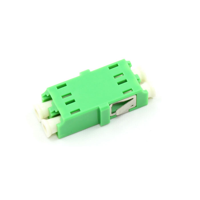 APC Connector LC Double Core Plastic Fiber Optic Adapter