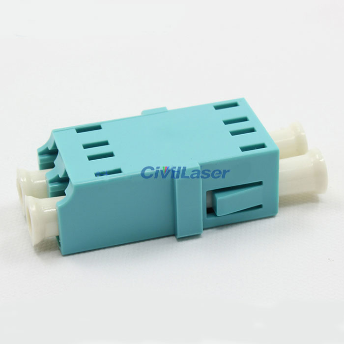 Multimode Double Core Plastic LC Fiber Optic Adapter