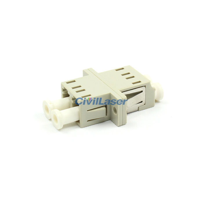 Multimode Double Core Plastic Beige LC Fiber Optic Adapter