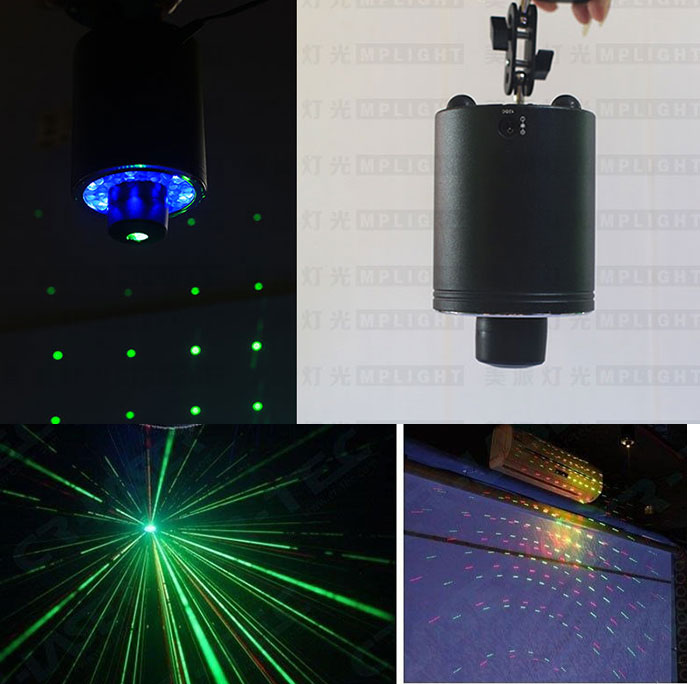 New 360 degree rotating LED stage with red and green laser for KTV paryt with Remote Control