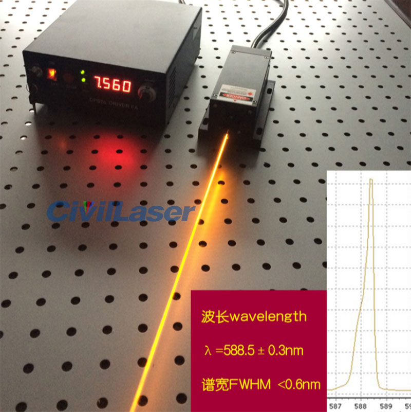 589nm yellow dpss laser