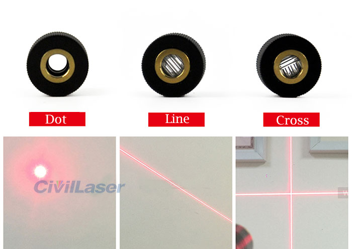 648nm 10mW-200mW Red Laser Module Dot Line Cross Focus Adjustable