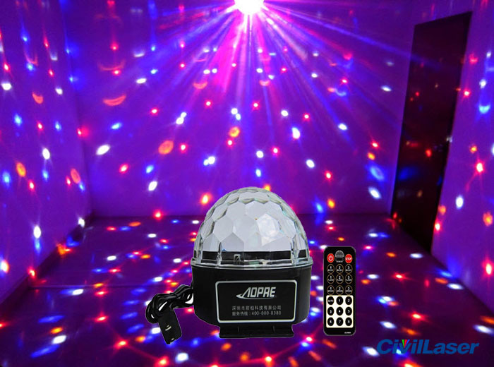 저렴하기 LED lighting Disco Crystal Ball small projector for home party with Remote control