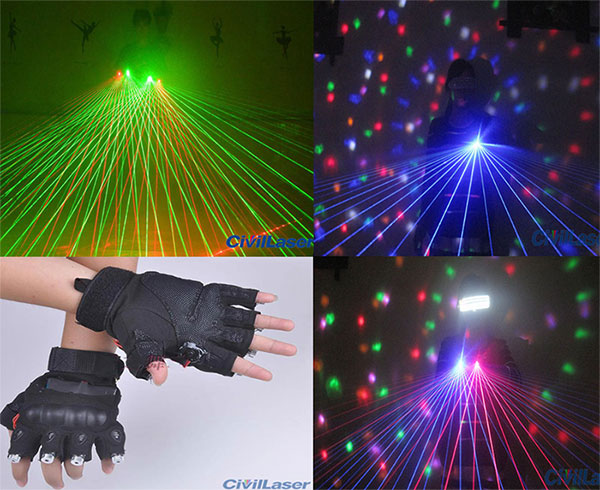 green/red/blue laser gloves laser stage with 60 laser beam for DJ club party laser show laser light