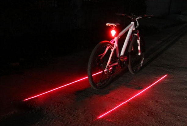 Laser Tail Lamp for Bicycle safty lamp Gem laser light Waterproof Riding Necessary for riding